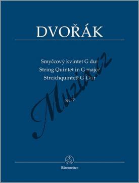 Dvořák Antonín | Smyčcový kvintet G dur op. 77 | Studijní partitura - Noty pro smyčcový kvintet - TP577.jpg