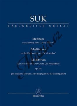 Suk Josef | Meditace na staročeský chorál Svatý Václave op. 35a pro smyčcový orchestr | Studijní partitura - Noty pro orchestr - TP583.jpg